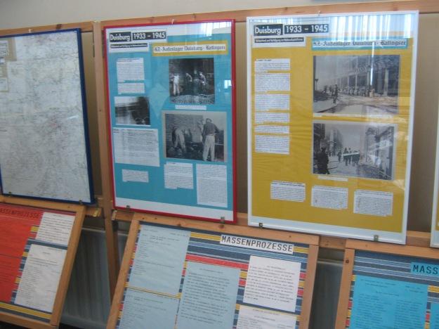 Teile der AUsstellung zum KZ-Außenlager Ratingsee in Duisbrg-Meiderich
