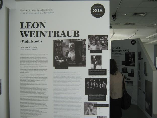 Ausstellung zu Überlebenden des Holocaust, darunter auch Leon Weintraub, im Marek-Edelmann-Zentrum für Dialog.